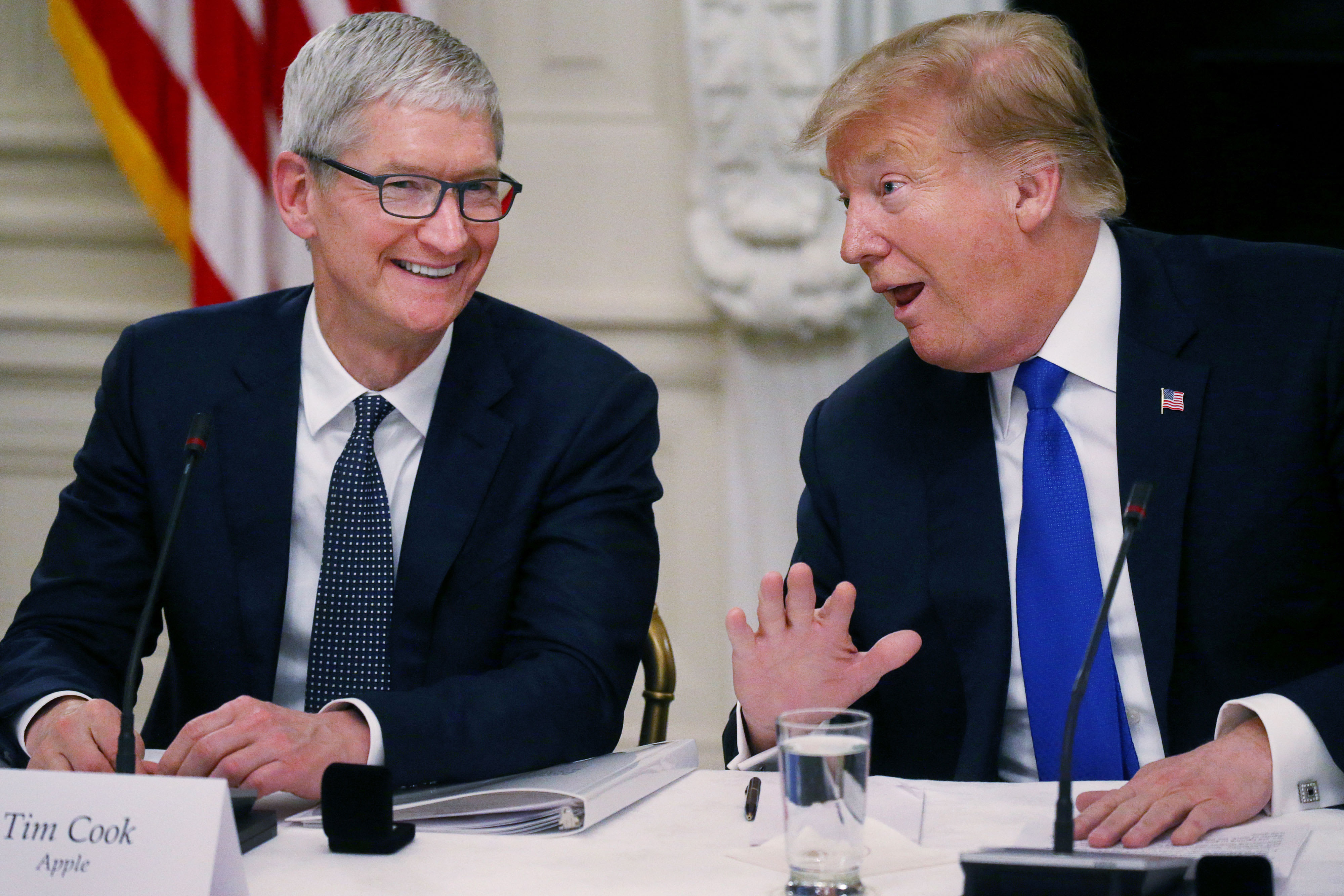 Trump, Apple CEO Tim Cook to tour Apple operations in Texas