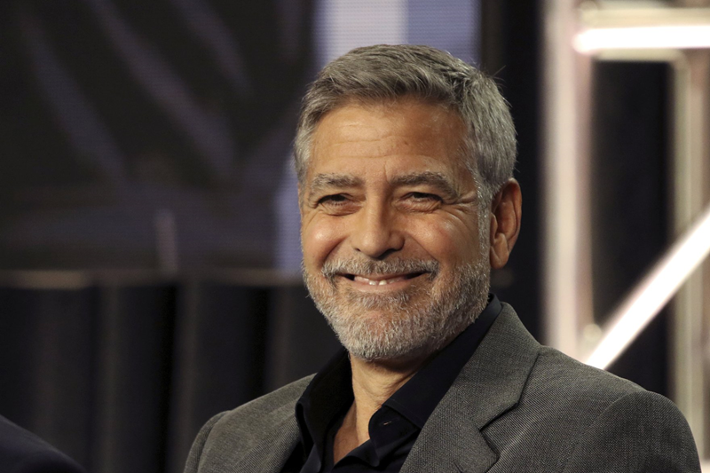 George Clooney's secret to cutting his hair, as seen on TV