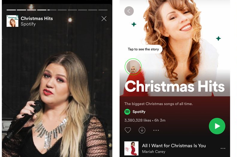 Spotify tests Snapchat-like stories for playlists